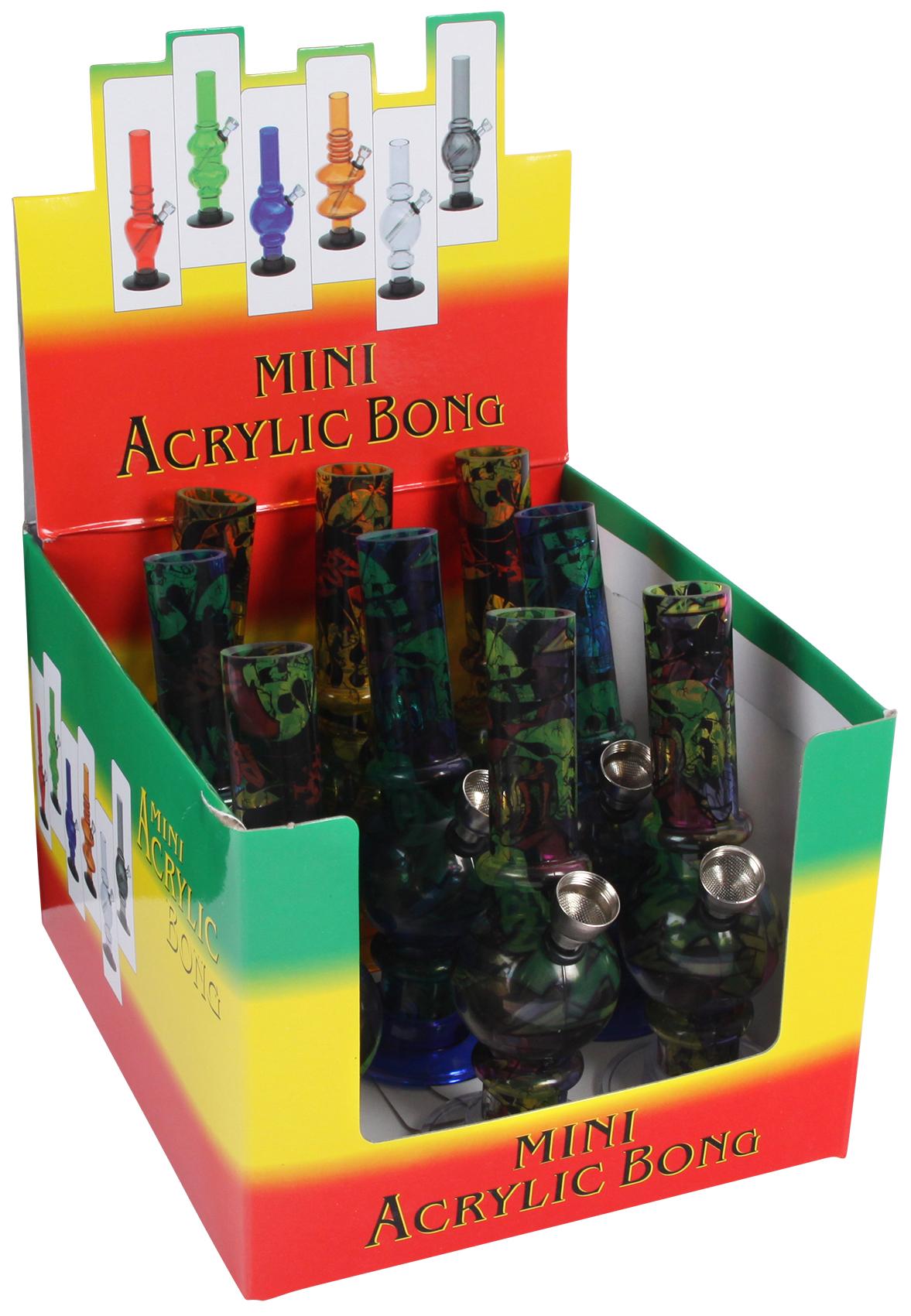 Acryl Bong mini printed