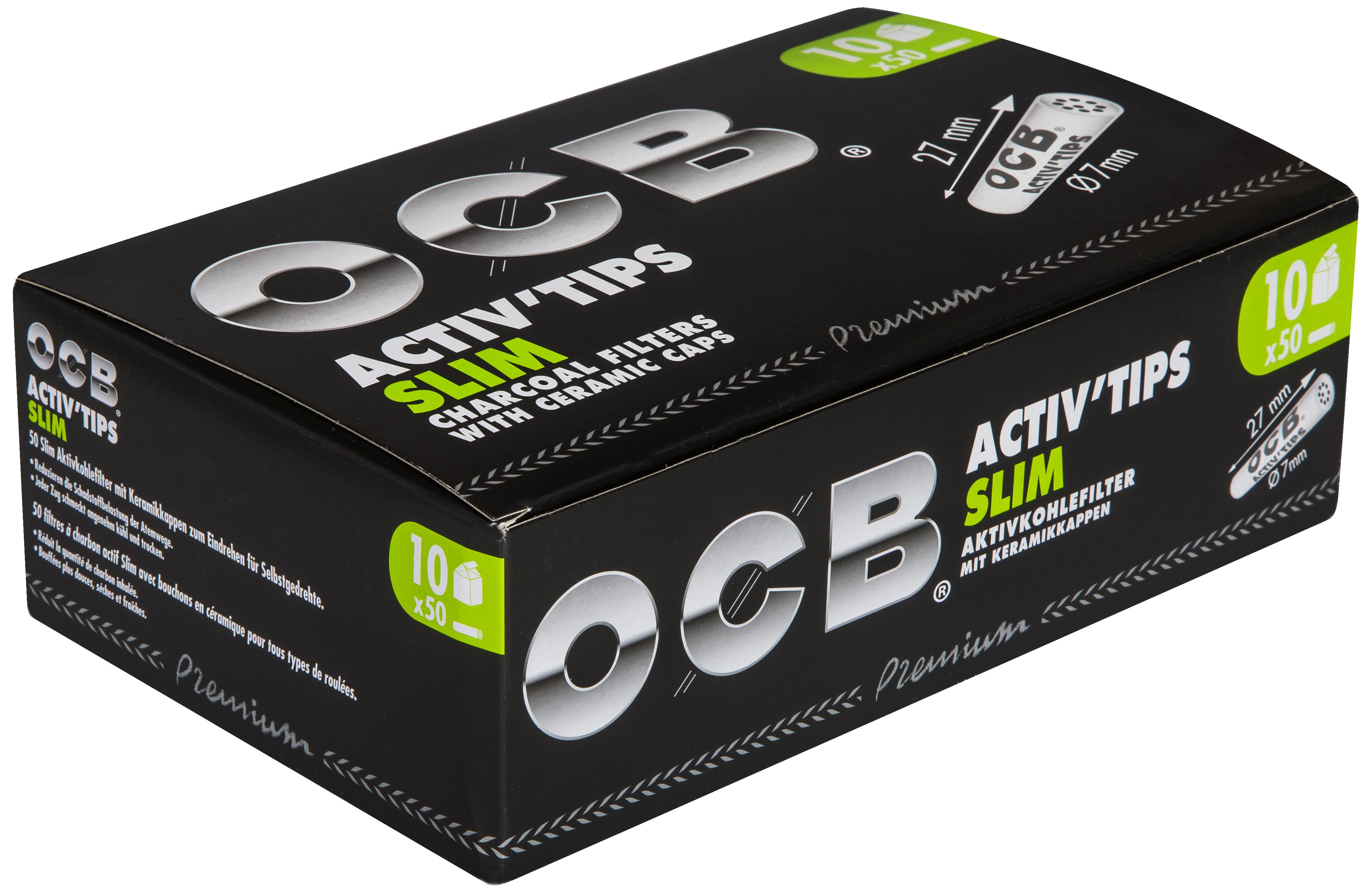 OCB Activ Tips Slim Aktivkohlefilter 7mm