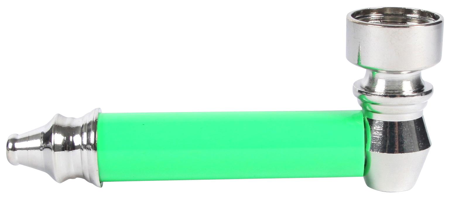 Weed Pipe inkl. 5 Siebe + Plastikgrinder - Blau