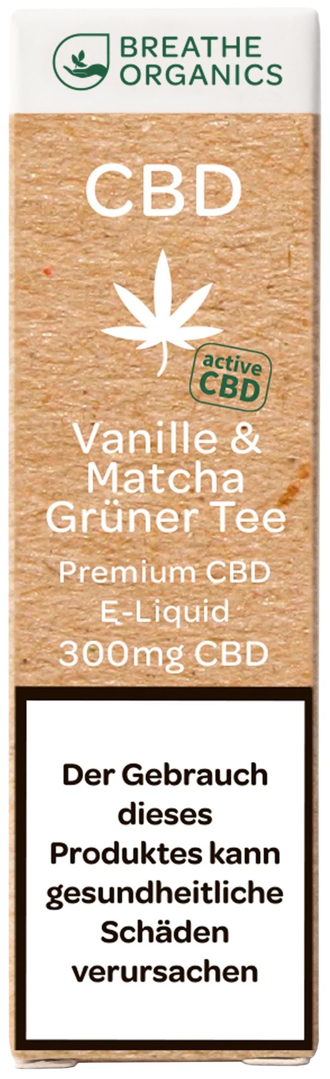 Breathe Organics CBD Liquid Vanille & Matcha 300mg