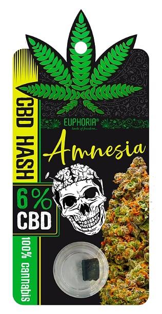 """6% CBD HASH """"AMNESIA"""" - 1g"""