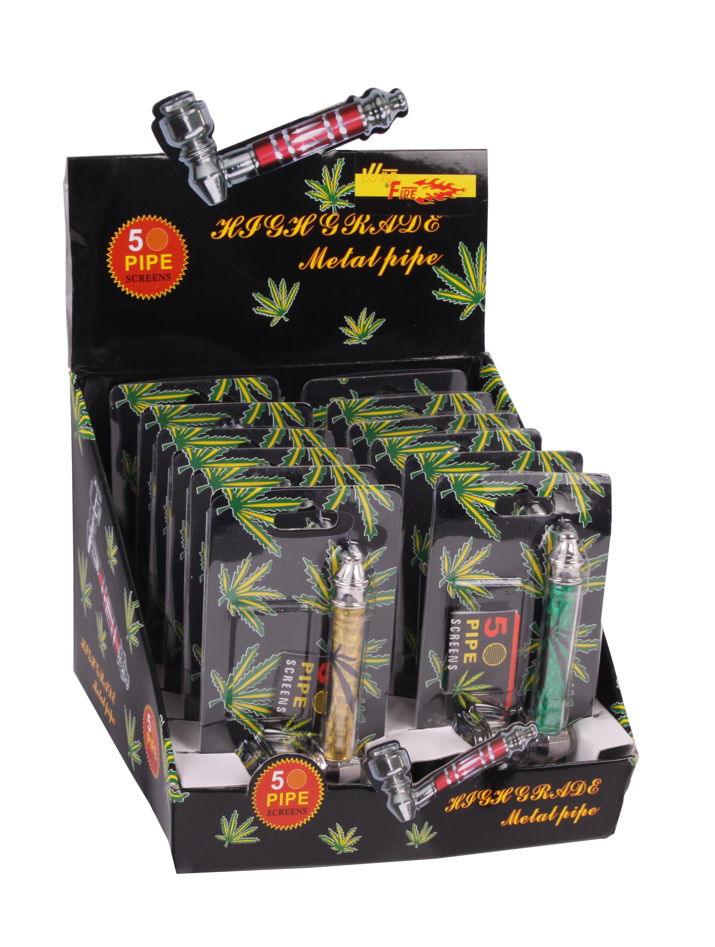 Weed Pipe inkl. 5 Siebe - Rot