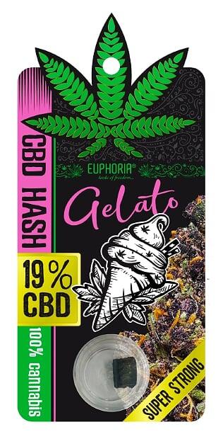 "19% CBD HASH ""GELATO"""