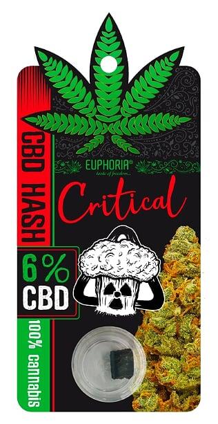 """6% CBD HASH """"CRITICAL""""- 1g"""